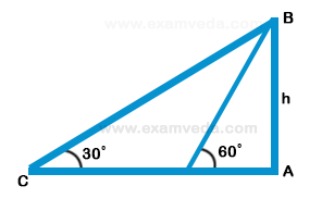 Height and Distance mcq solution image