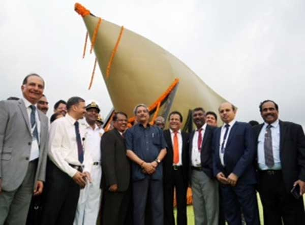 India's first indigenously developed sonar dome flagged off