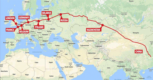 A new freight train connects Russia with China